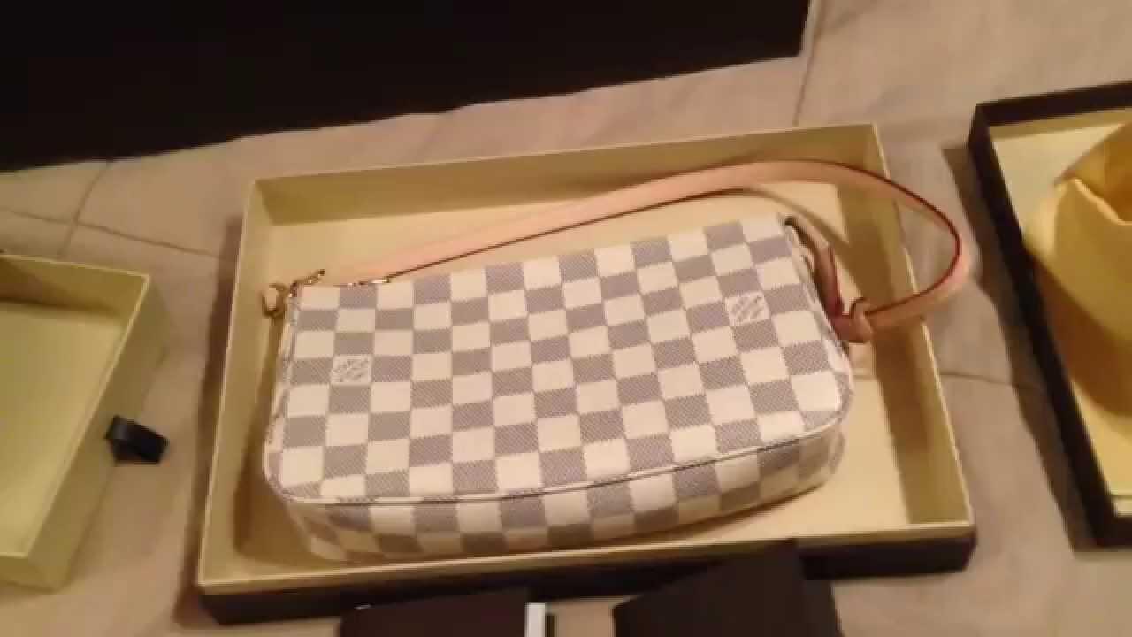 aebd03088689 Louis Vuitton Reveal  Key Ring Chain   Pochette NM Damier Azur ...