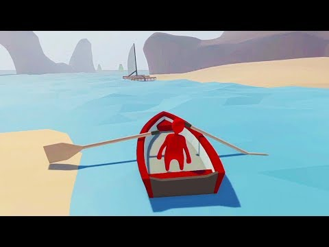 BOATING ACROSS THE OCEAN!! (Human Fall Flat)