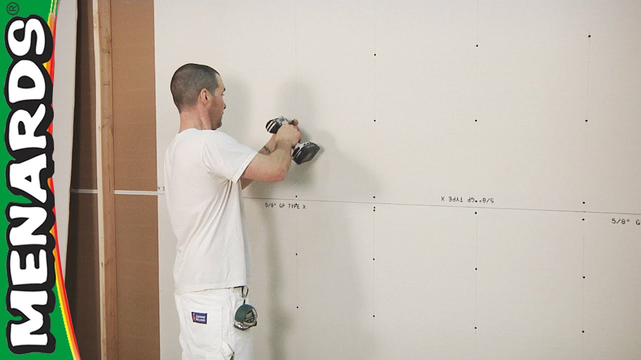 Drywall How To Install Menards Youtube