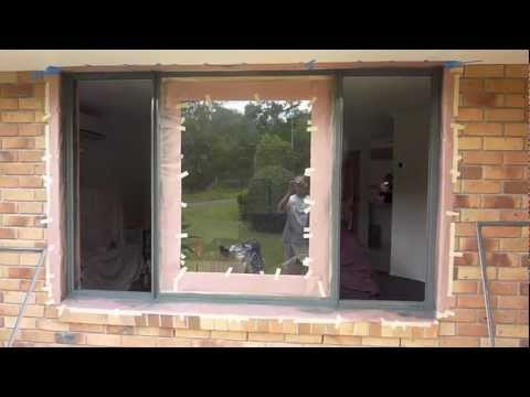 Aluminium Window Spraying Painting Correct Masking V2