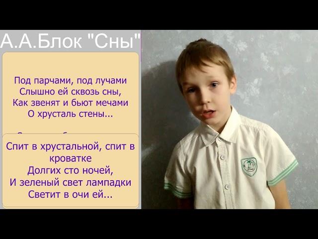 Изображение предпросмотра прочтения – ВячеславДеревнин читает произведение «Сны» А.А.Блока