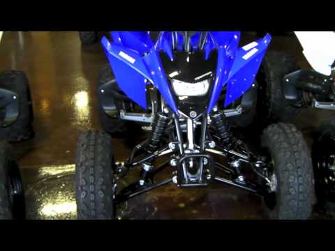 Yamaha Raptor 125 Quad - Blue & White Raptor 125 Pair Walkaround