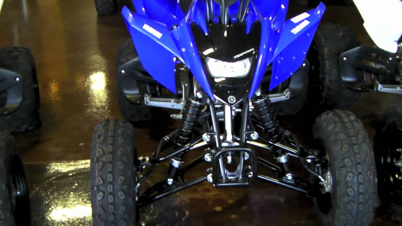 yamaha raptor 125 quad blue white raptor 125 pair walkaround youtube. Black Bedroom Furniture Sets. Home Design Ideas