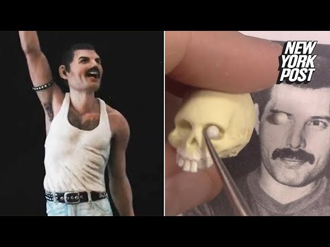 This tiny sculpture of Freddie Mercury is creepily real | New York Post