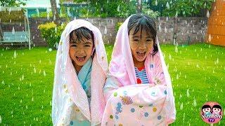 หนูยิ้มหนูแย้ม   แอบเล่นน้ำฝน ละครสอนใจเด็ก