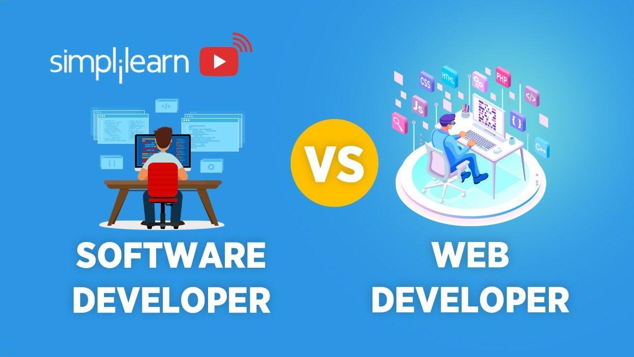 Software Developer vs Web Developer | Difference Web Developer & Software Developer