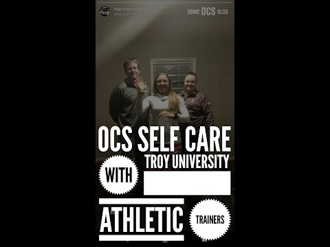 USMC OCS Blog Live: Self-Care at OCS with Certified Athletic Trainers