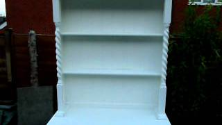 Two Draw Kitchen Dresser Aged Antique White Painted Distressed Shabby Chic Furniture