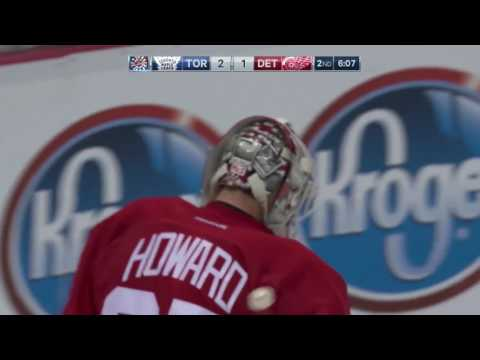 Mitch Marner 18th NHL Goal! 4/1/2017 (Toronto Maple Leafs vs Detroit Red Wings)