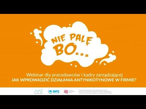 Webinar dla pracodawców i kadry zarządzającej - Jak wprowadzić działania antynikotynowe w firmie?