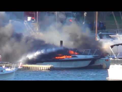 Quincy Boat Fire and Plymouth Ocean Storm