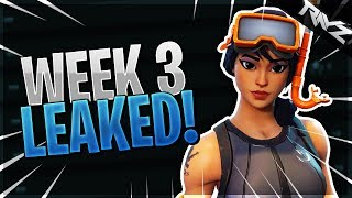 """ALL WEEK 3 CHALLENGES LEAKED! """"FOLLOW THE TREASURE MAP FOUND IN FLUSH FACTORY"""" (Fortnite BR)"""
