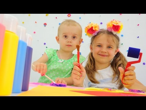 Видео для детей. Тьюбики. Ксюша. Алиса. Рисование или печати.