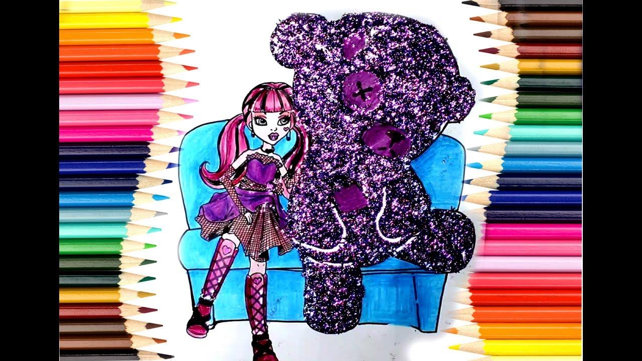 Monster High Boyama çizgi Film Karakteri çocuklar Için Eğlenceli