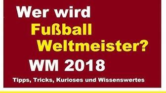 Wer wird Fussball Weltmeister 2018 Fußball WM in Russland Prognose Tipps Umfrage