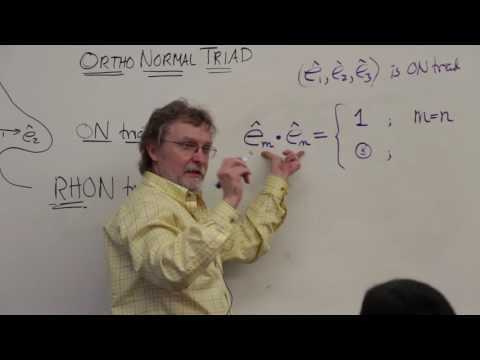 Intermediate Dynamics: Elements of Euclidean Vector Algebra (1 of 29)