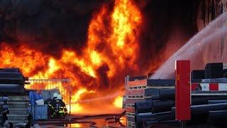 Zeer grote Industriebrand. Schutweg 9 Waalwijk. 04-12-2016