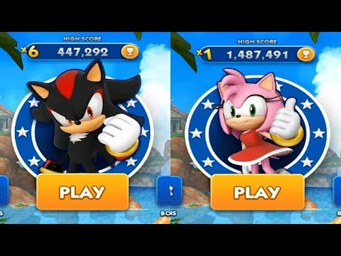 Sonic Dash Android Gameplay - SHADOW VS AMY