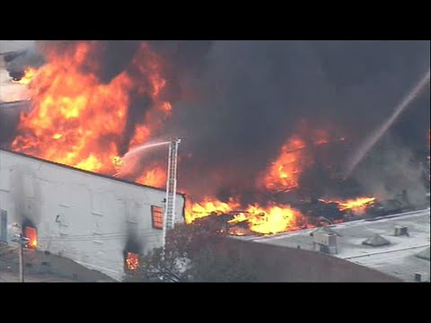 Crews Battle Raging Fire at St. Louis Warehouse