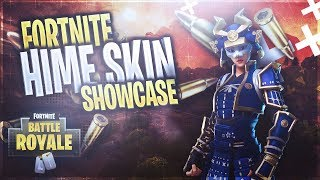 FORTNITE SAMURAI SKIN SHOWCASE (HIME SKIN)