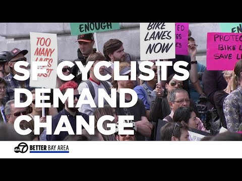 Cyclists demand change following death of young woman - YouTube