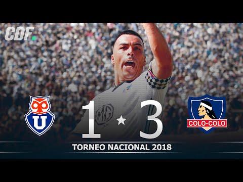 Universidad de Chile 1 - 3 Colo Colo   Torneo Scotiabank 2018 Novena Fecha   CDF