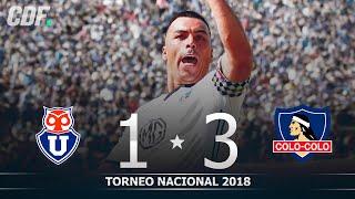Universidad de Chile 1 - 3 Colo Colo | Torneo Scotiabank 2018 | Fecha 9 | CDF
