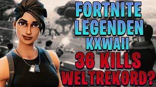 🏆FORTNITE LEGENDEN: KXWAII - 36 KILLS SEASON 7 WELTREKORD!?