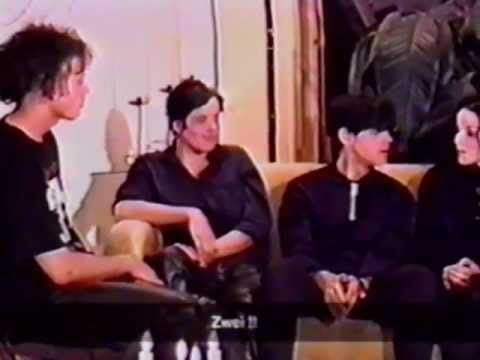 CLAN OF XYMOX 'Going Round 97', 'The Story Ends' & 'This World' LIVE excerpts & Interview on TAPE TV