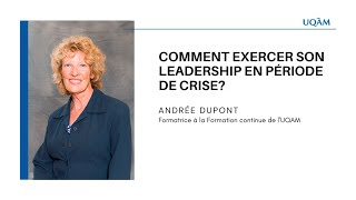 Formation continue: «Comment exercer son leadership en période de crise?»
