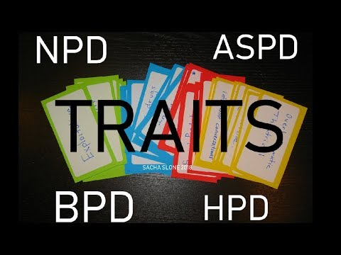 CLUSTER B TRAITS TEST: NARCISSISM, BORDERLINE, HISTRIONIC, SOCIOPATH