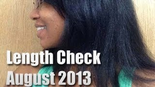 Natural Hair Journey--Official Length Check Aug 2013