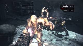 "Gears of War: Judgment - Anybody Home: ""Former"" Lambent Human Intro Ambush Combat,  Baird Xbox 360"
