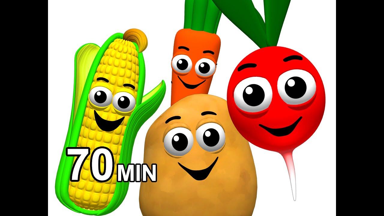 Veggie Songs & Fruit Rhymes Learn Names of Ve ables