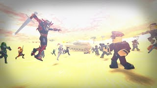ROBLOX ACTION STORY - The Great Battle (RThro VS Robloxians)
