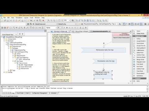 MBSE Rhapsody SysML Method #1 - Requirements Analysis and Use Cases