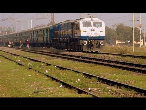 INDIAN RAILWAYS WDP4B 40021 From TKD Coming To A Halt At Asaoti, Haryana With Passenger