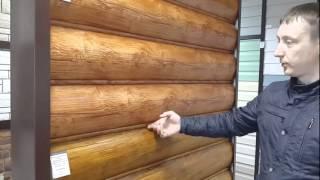 """видео сайдинг под """"Бревно"""" в Новосибирске на заводе"""