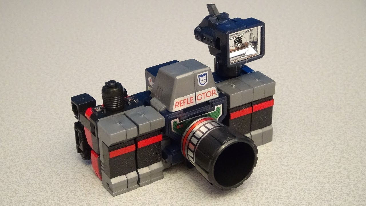 TRANSFORMERS G1 REFLECTOR VIDEO VINTAGE TOY REVIEW - YouTube