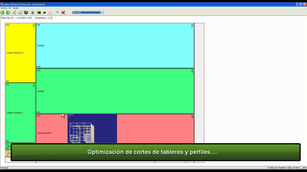 Demo armarius youtube for Software para melamina