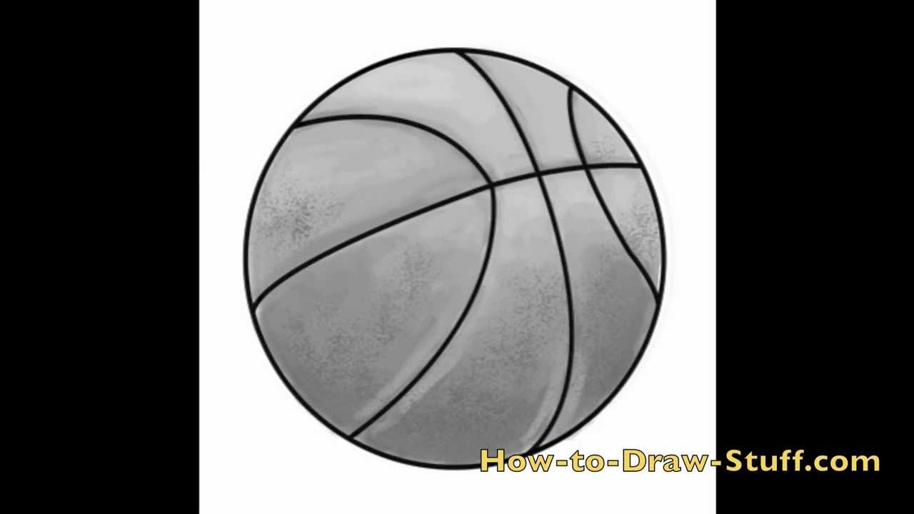 How To Draw A Basketball Step By Step Youtube