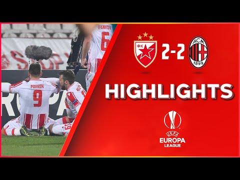 Crvena zvezda - Milan 2:2, highlights