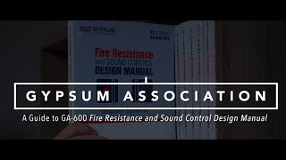 GA-600-2018 Fire Resistance and Sound Control Design Manual, Gypsum Systems