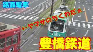 【豊橋鉄道】路面電車をシェイク飲みつつ撮影してきた【豊橋駅前】