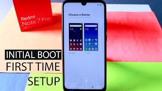 Redmi Note 7 Pro First Time Setup | First Boot