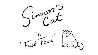 Fast Food A Thanksgiving Special Simon's Cat  BLACK WHITE