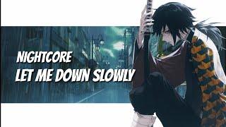 Nightcore - Let Me Down Slowly