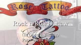 Rock n Roll Outlaw - Rose Tattoo - Guitar cover (slide)