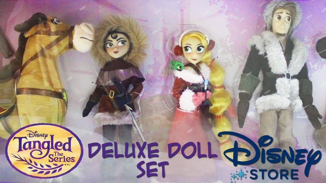 Espanol Enredados La Serie Set De Munecas De Lujo Disney Store Resena Review Youtube