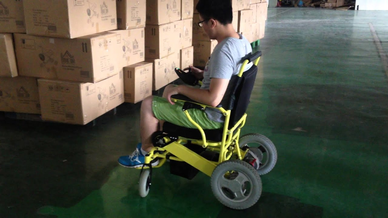 D09 lightweight portable folding power wheelchair